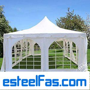 Marquee Party tent Pavilion Pagoda 10×10 meter, White